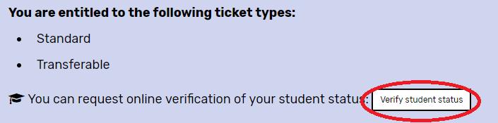 verify student status