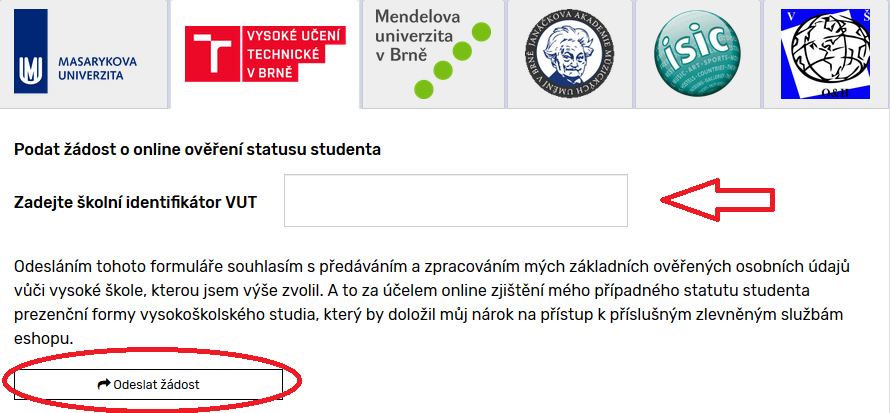 status studenta vut