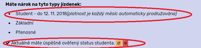 status studenta online