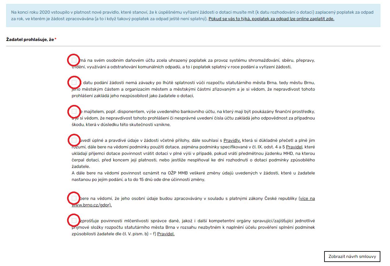 formulář dotace